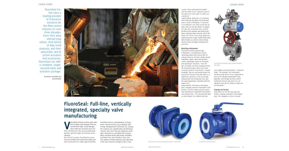 Valve World Magazine 05 2020 Cover Story FluoroSeal