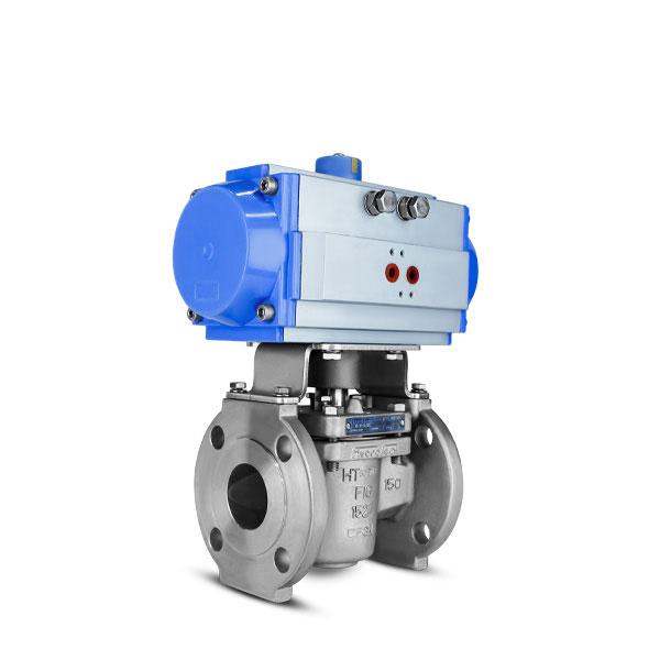 Sleeved plug valve FluoroSeal pneumatic actuator lv1