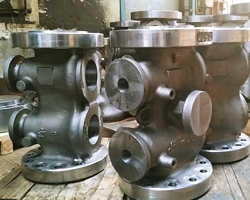Twin plug bodies Brdr Christensen Stainless Steel